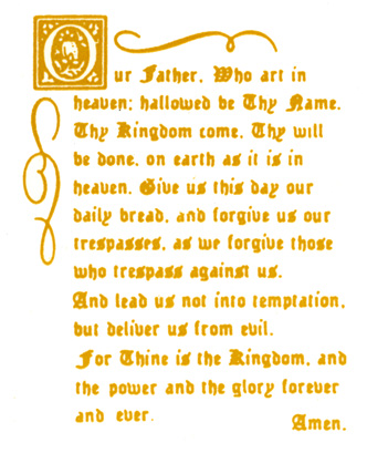 Religious - Lord's Prayer - Bright Gold