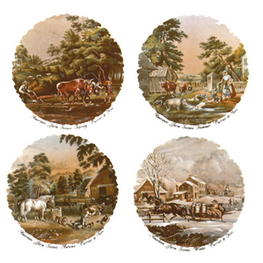 Currier and Ives Farm Scenes
