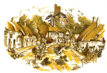 Cottages Mural