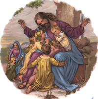 Religious Scenes - Jesus With the Children