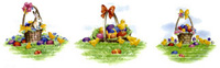 Easter Baskets with Bunny & Chicks