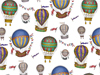 Hot Air Balloons Coverall Chintz