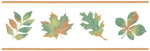 Green/Gold Leaves with Gold Borders