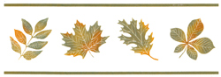 Green and gold Leaves green Border lines