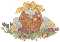 Easter Bunnies and Basket