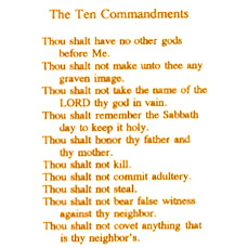 Religious - The Ten Commandments - Bright Gold