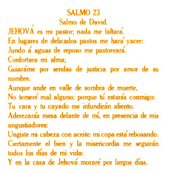 Religious - Spanish 23rd Psalm - Bright Gold