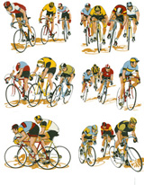 Cyclists - 6 pc. Set (Bike riders)