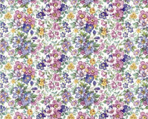 Flowers Design Overall Chintz