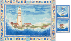 CRYSTAL LIGHTHOUSE SCENE WITH ACCENTS