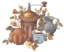 Coffee Grinder, Muffin, Cup Mural