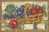 Fruit Basket & Bowl Mural  Apples, Grapes, Blackberries