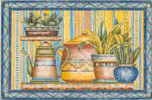 Cactus and Pottery
