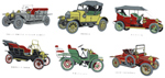 Antique Cars - Rolls-Royce, Model T Ford, Wolseley, Vauxhall, Morris, Austin