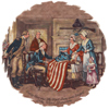 Betsy Ross and the 1st stars and stripes  - American Flag