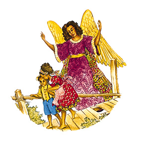 African American Guardian Angel Print