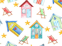 Beach Hut Overall Chintz