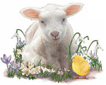 Easter - Lamb and Chick