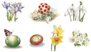 Easter - Egg and Flower Bits