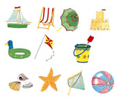 Beach Accessories Set 11 pieces