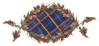 BLUE PLAID HEATHER MEDALLION
