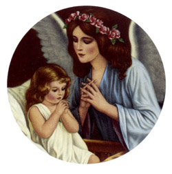 Angel Praying With Child
