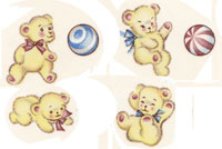 Baby Babies with Teddy Bear SET OF 4 BITS