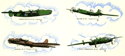 Bomber Planes - Liberator, Superfortress, Flying Fortress, Mitchell