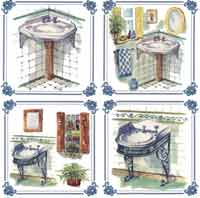 Bathroom Pedestal Sinks -  4 PC SET