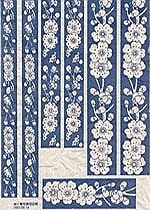 RICE PAPER BLUE FLOWERS-Borders