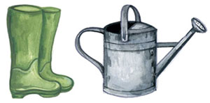 Boots and Watering Can