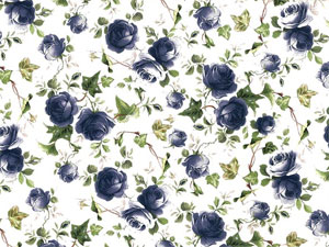 Overall Design - Blue Ivy Rose Chintz