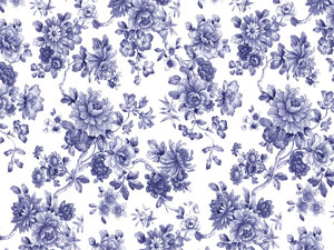 Overall Design - Blue Flower Chintz