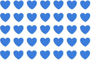 Overall Design - Blue Heart Chintz