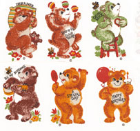 Bears with Sayings Set of 6