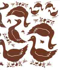 BROWN FARM ANIMALS -  DUCKS - 6 SIZES